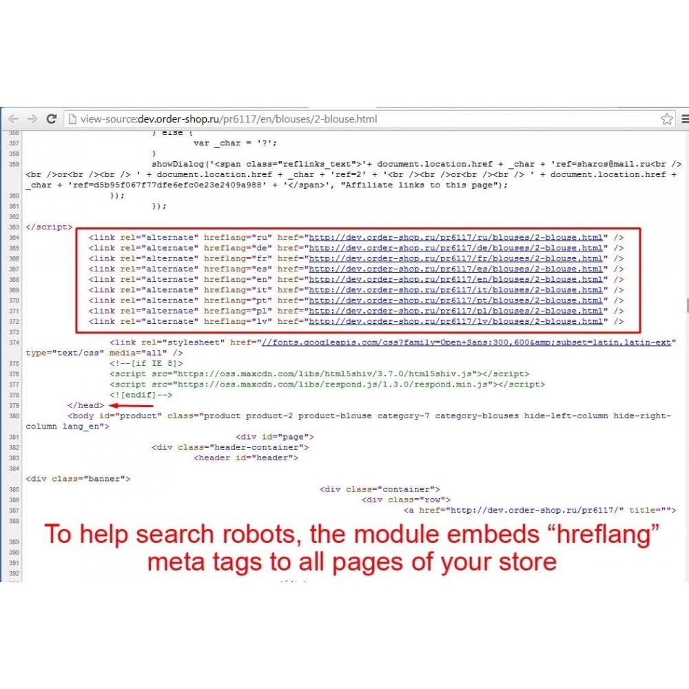 module - SEO (référencement naturel) - HrefLang Tag - 3