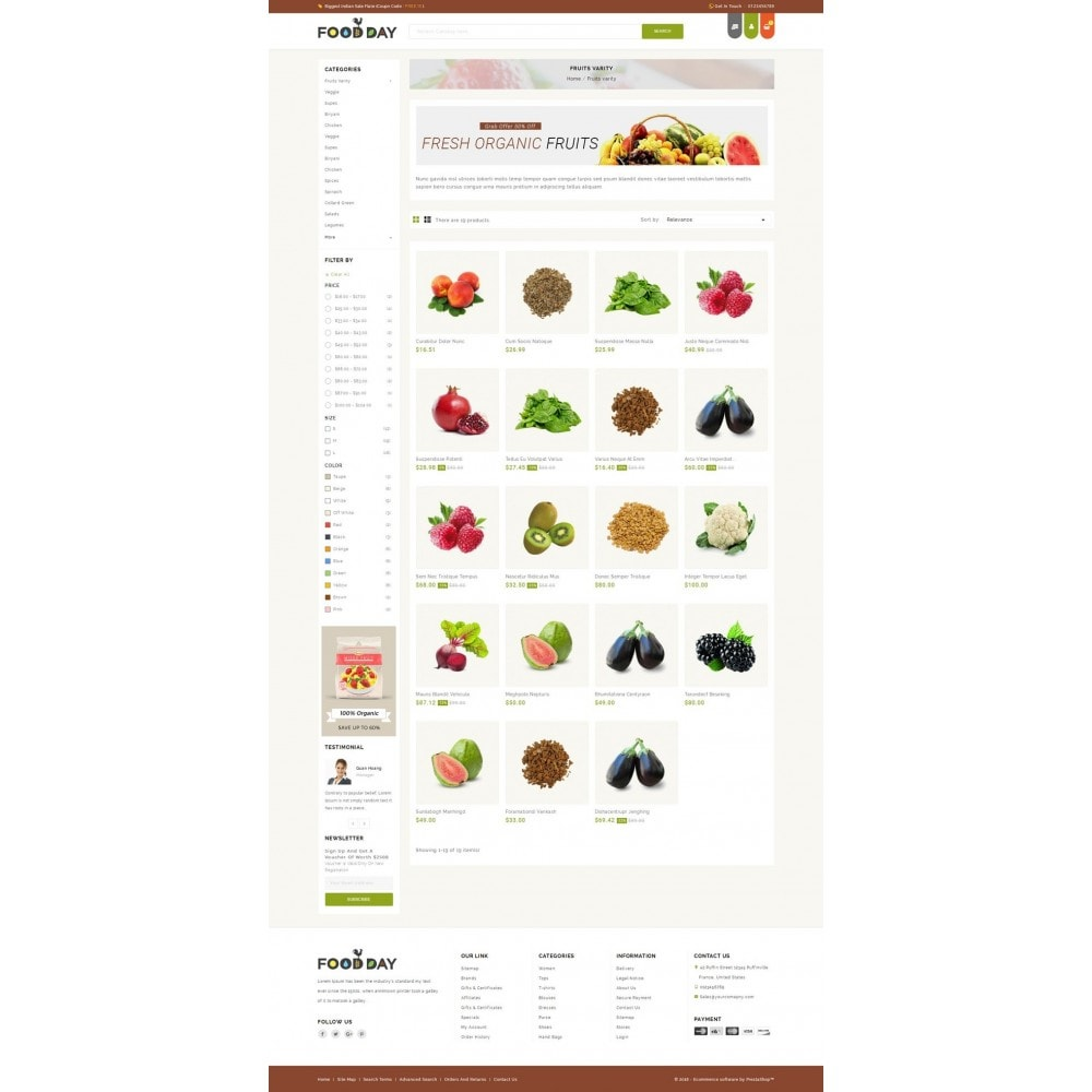 theme - Alimentation & Restauration - FoodDay - Food & Restaurant Store - 3
