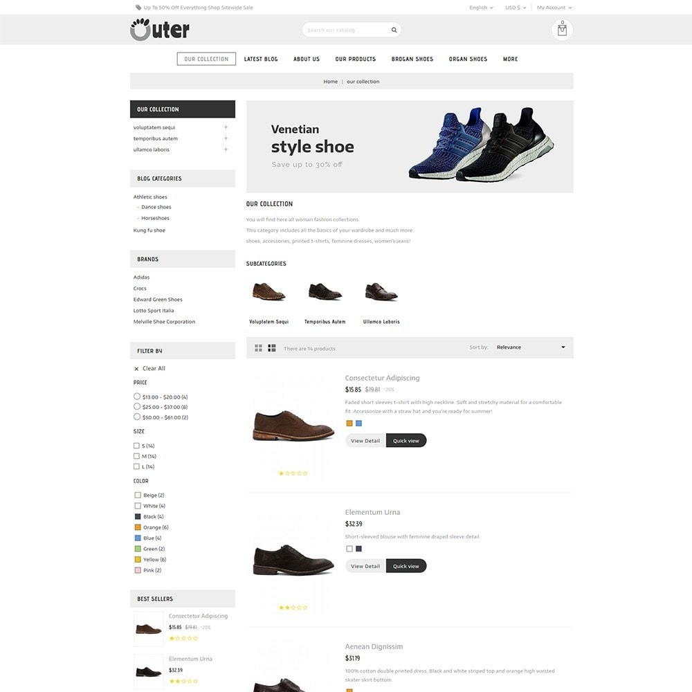 theme - Мода и обувь - Outer - The Shoe Shop - 5