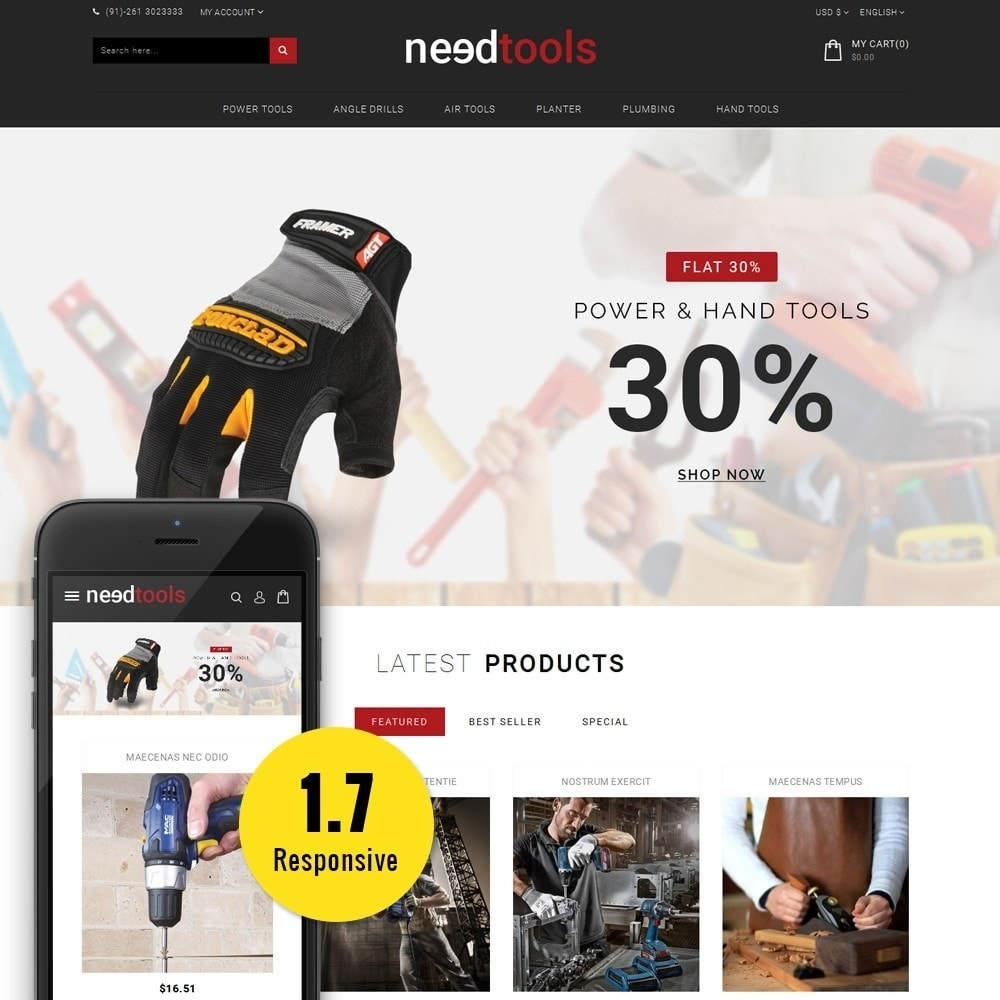 theme - Automotive & Cars - NeedTools Store - 1