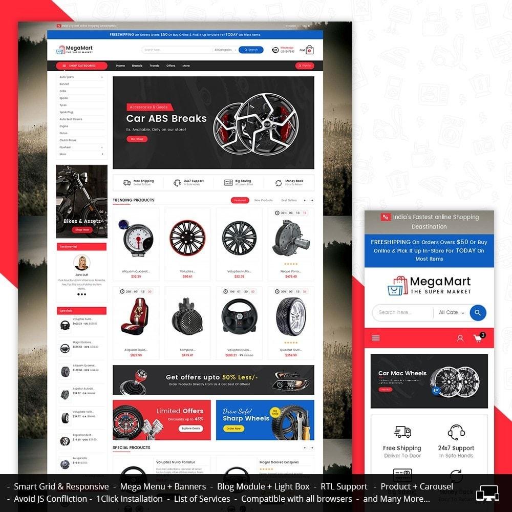 theme - Automotive & Cars - Mega Mart Auto Parts - 1
