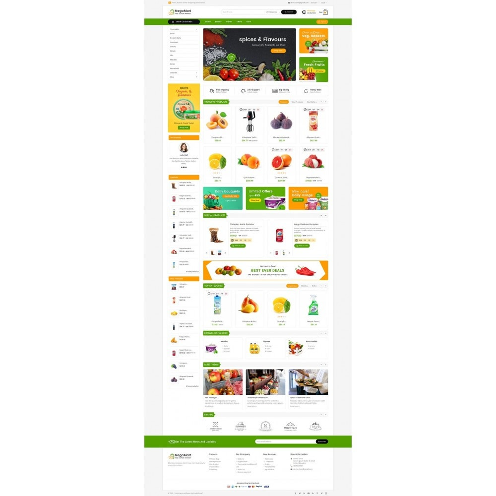 theme - Food & Restaurant - Mega Mart Grocery - 2