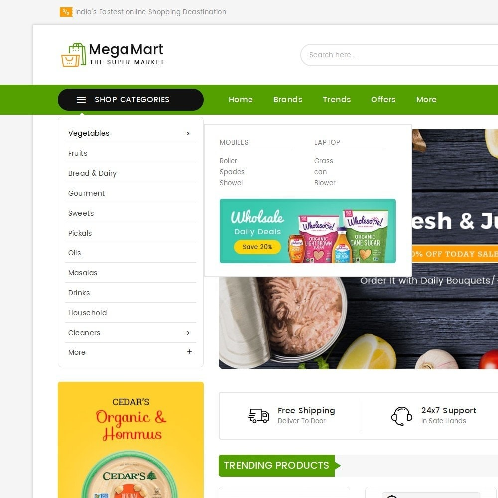 theme - Food & Restaurant - Mega Mart Grocery - 9