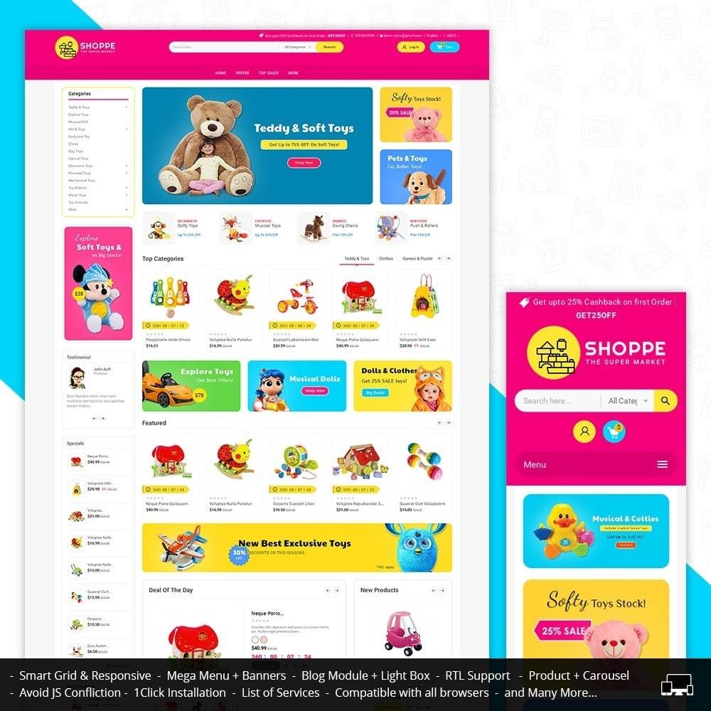 theme - Дети и Игрушки - Mega Shoppe Kid Toys - 1