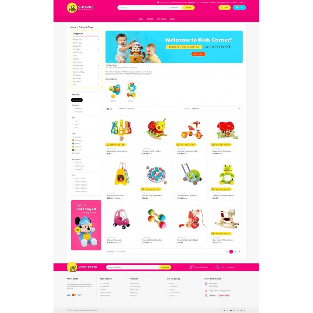 theme - Kids & Toys - Mega Shoppe Kid Toys - 3