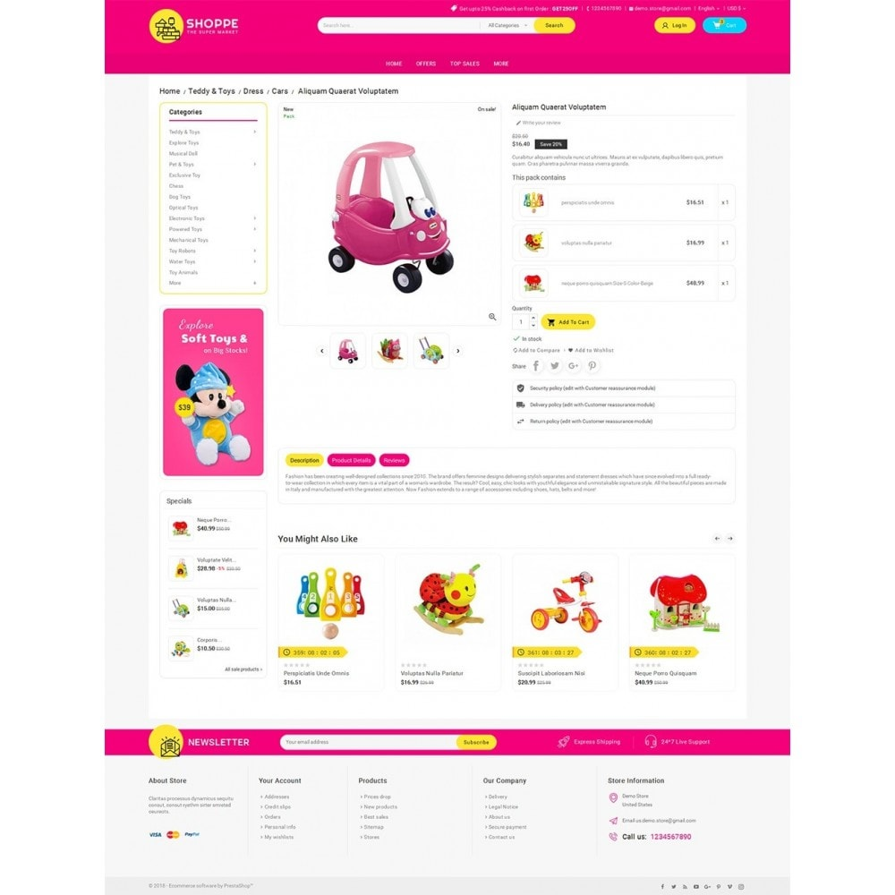 theme - Kids & Toys - Mega Shoppe Kid Toys - 5