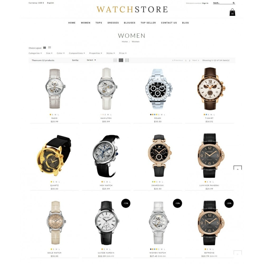 theme - Sieraden & Accessoires - Watch And Accessories Store - 4