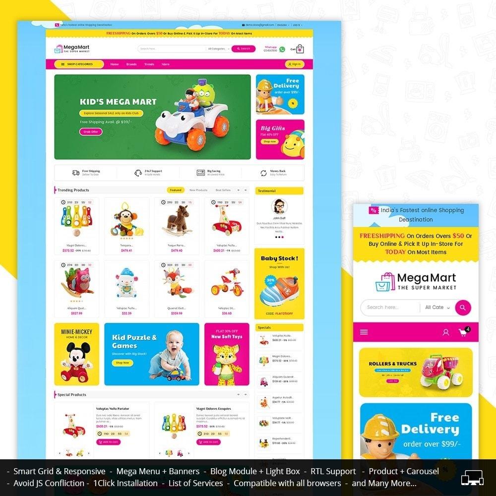 theme - Дети и Игрушки - Mega Mart Kids Toys - 1