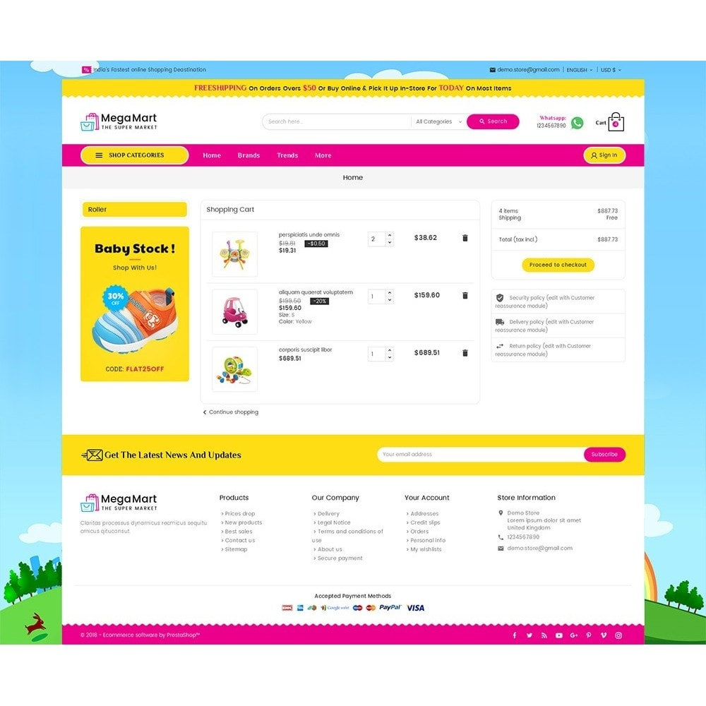 theme - Дети и Игрушки - Mega Mart Kids Toys - 6