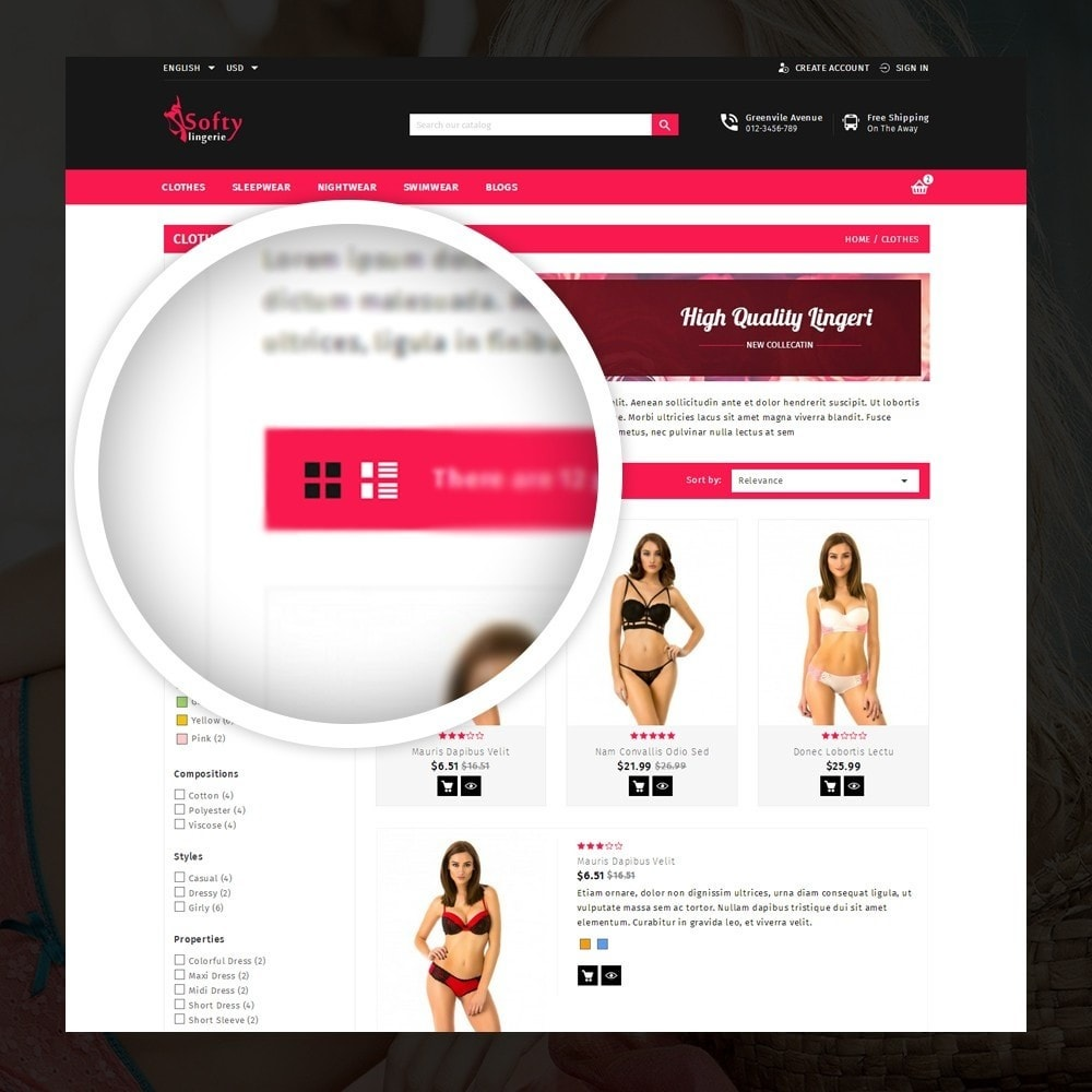theme - Lenceria y Adultos - Softy -  Lingerie store - 3