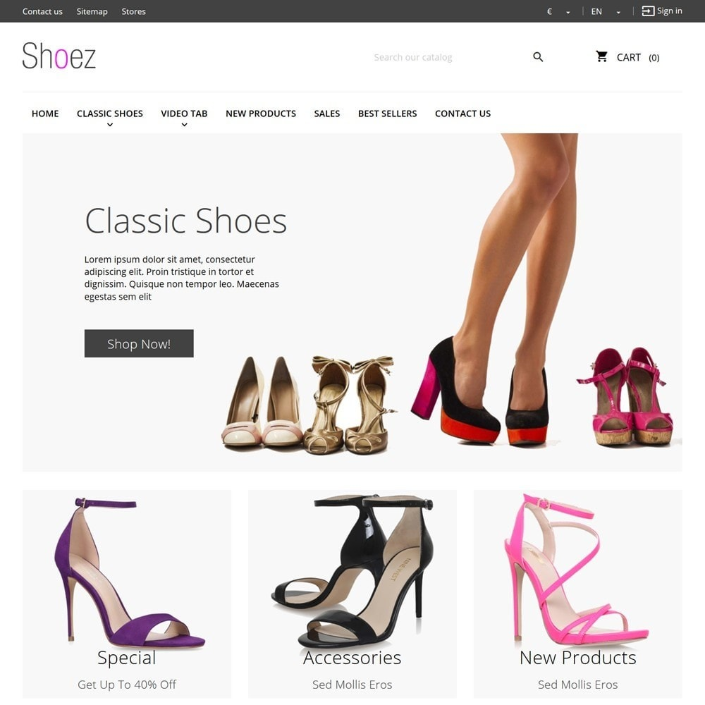 theme - Moda y Calzado - Shoez - 2