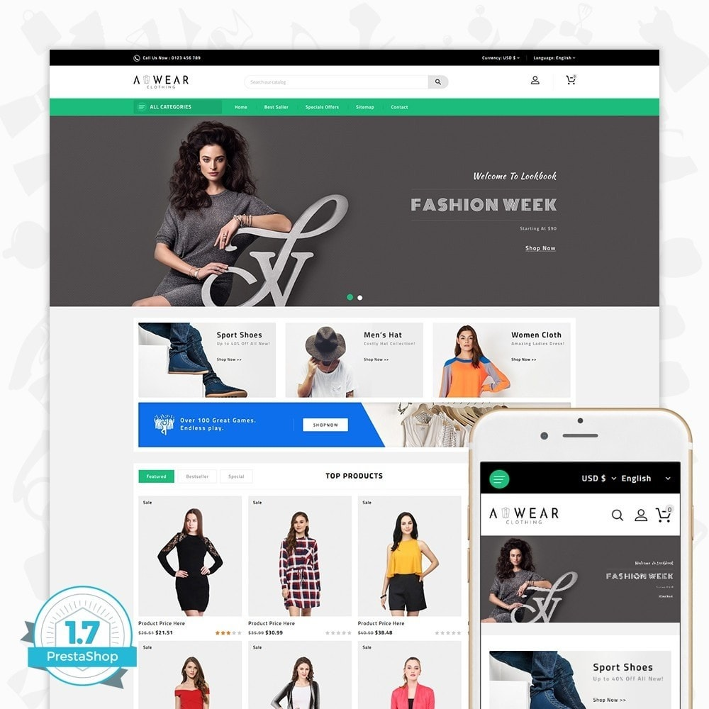 theme - Mode & Chaussures - Awear Clothing- The Fashion Store - 1