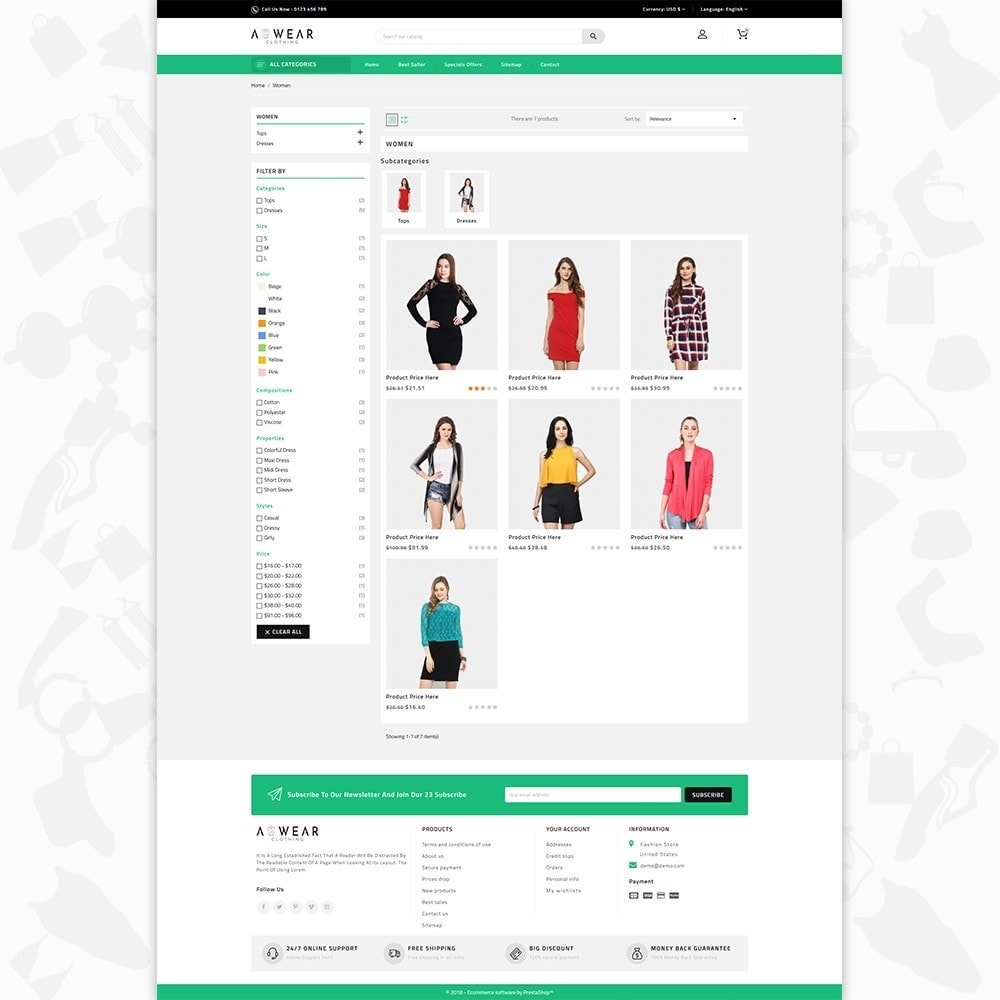theme - Mode & Chaussures - Awear Clothing- The Fashion Store - 3