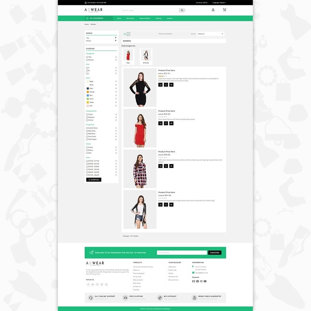theme - Mode & Chaussures - Awear Clothing- The Fashion Store - 4