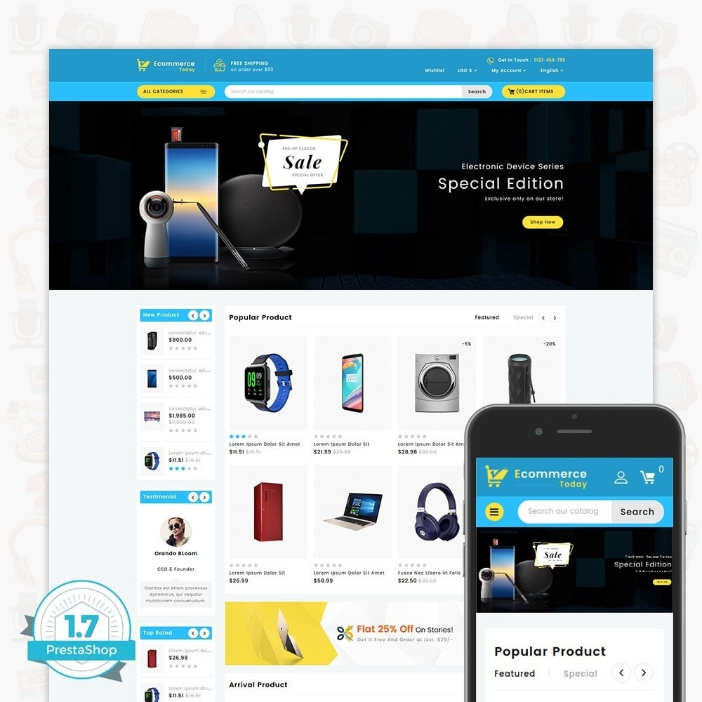 theme - Elettronica & High Tech - Ecommerce-Today- Electronics Store - 1