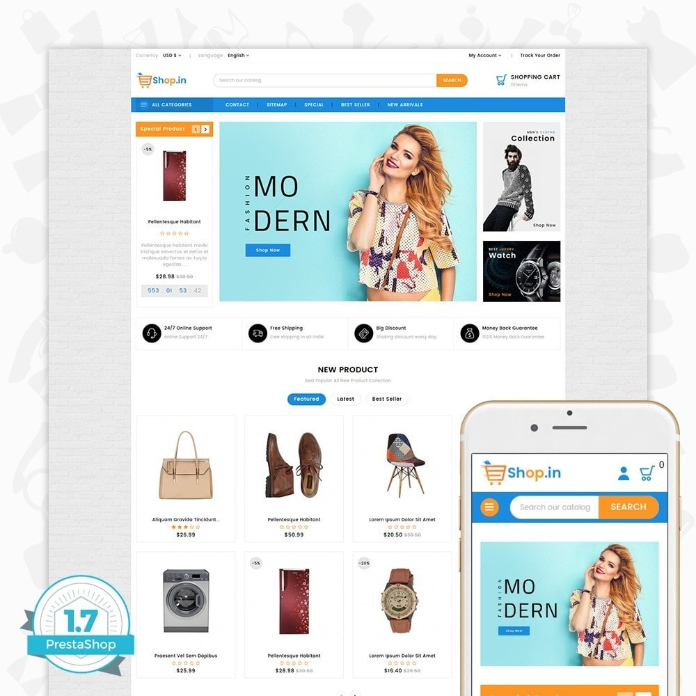 theme - Mode & Chaussures - Shop in -The Fashion Store - 1