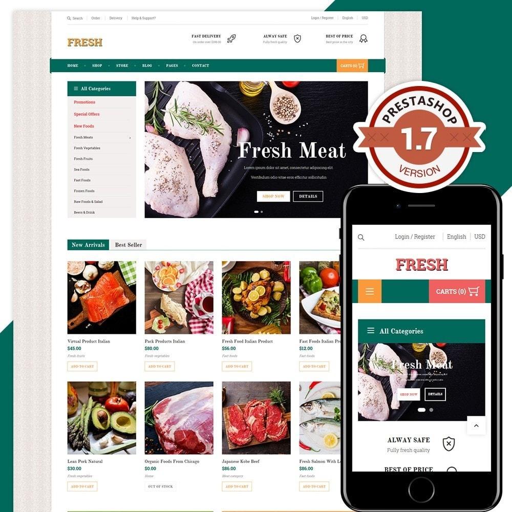 theme - Продовольствие и рестораны - Fresh Store II - 1