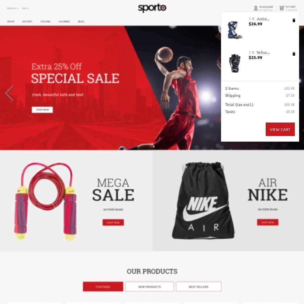 theme - Sport, Loisirs & Voyage - Sporto Demo Store - 6