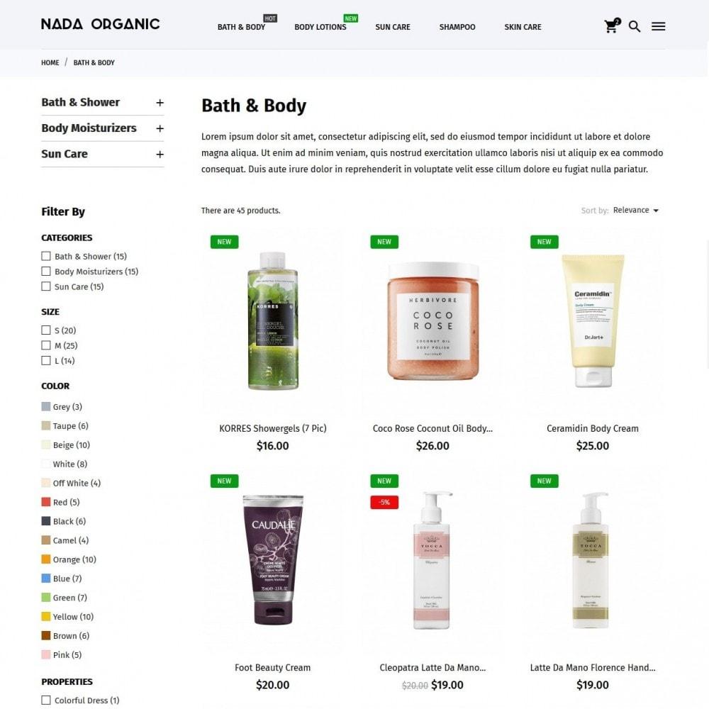 theme - Santé & Beauté - Nada Organic - 5
