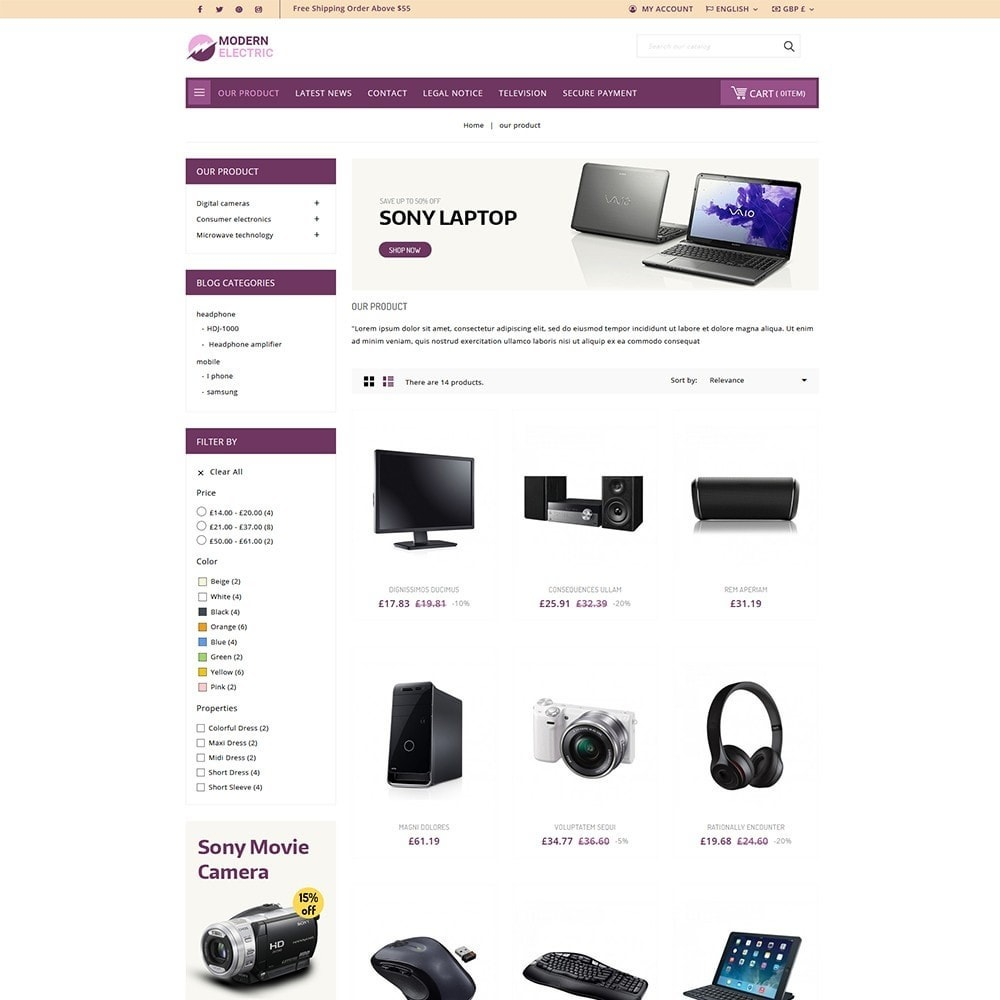 theme - Electronique & High Tech - Modern Electric - Electronics Store - 4