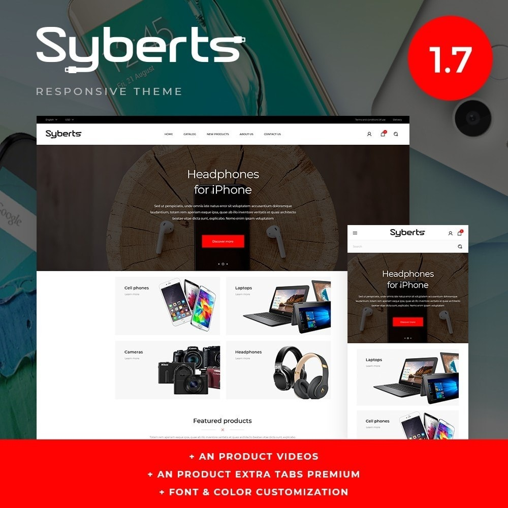 theme - Elettronica & High Tech - Syberts - High-tech Shop - 1