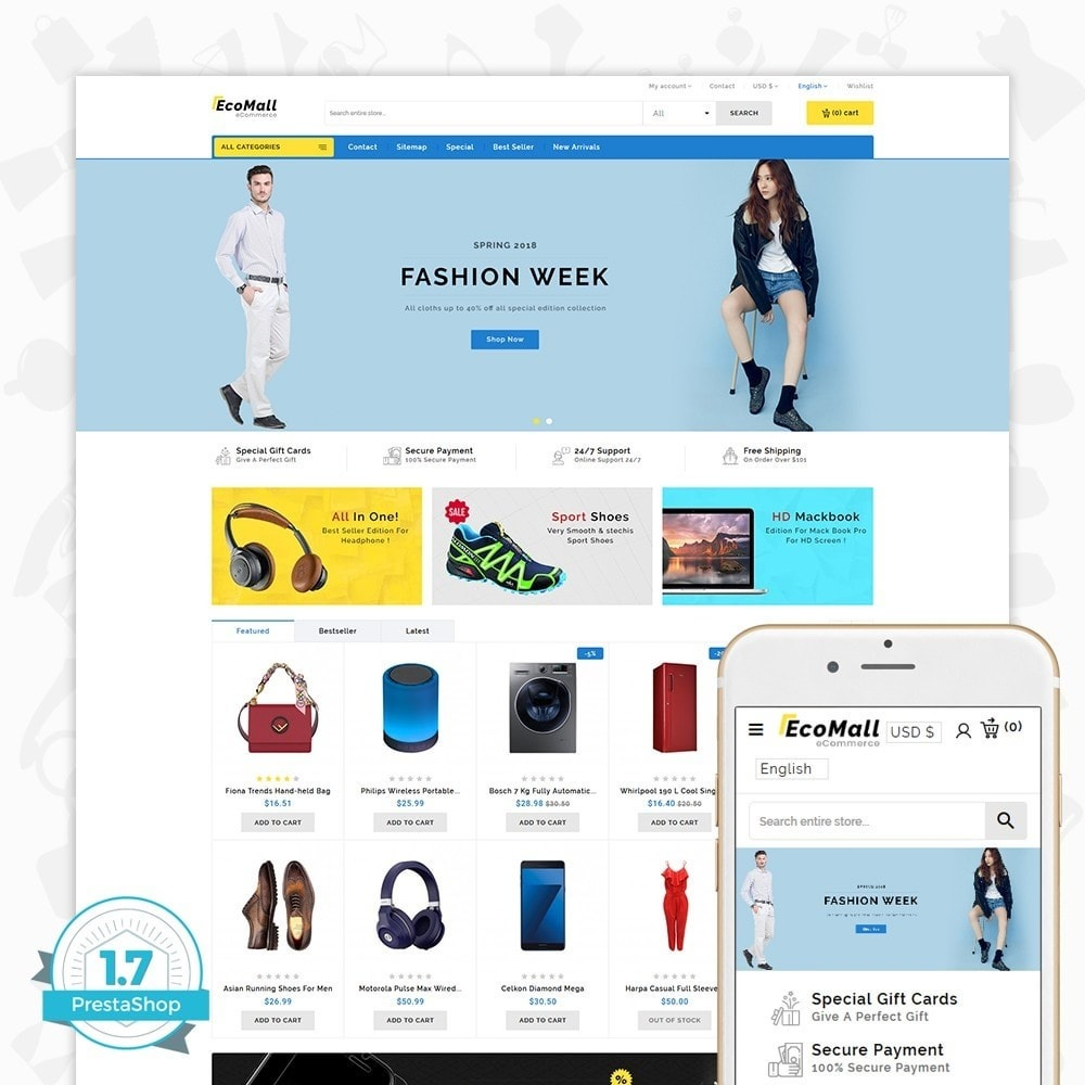 theme - Electronique & High Tech - EcoMall - The Mega Ecommerce Store - 1