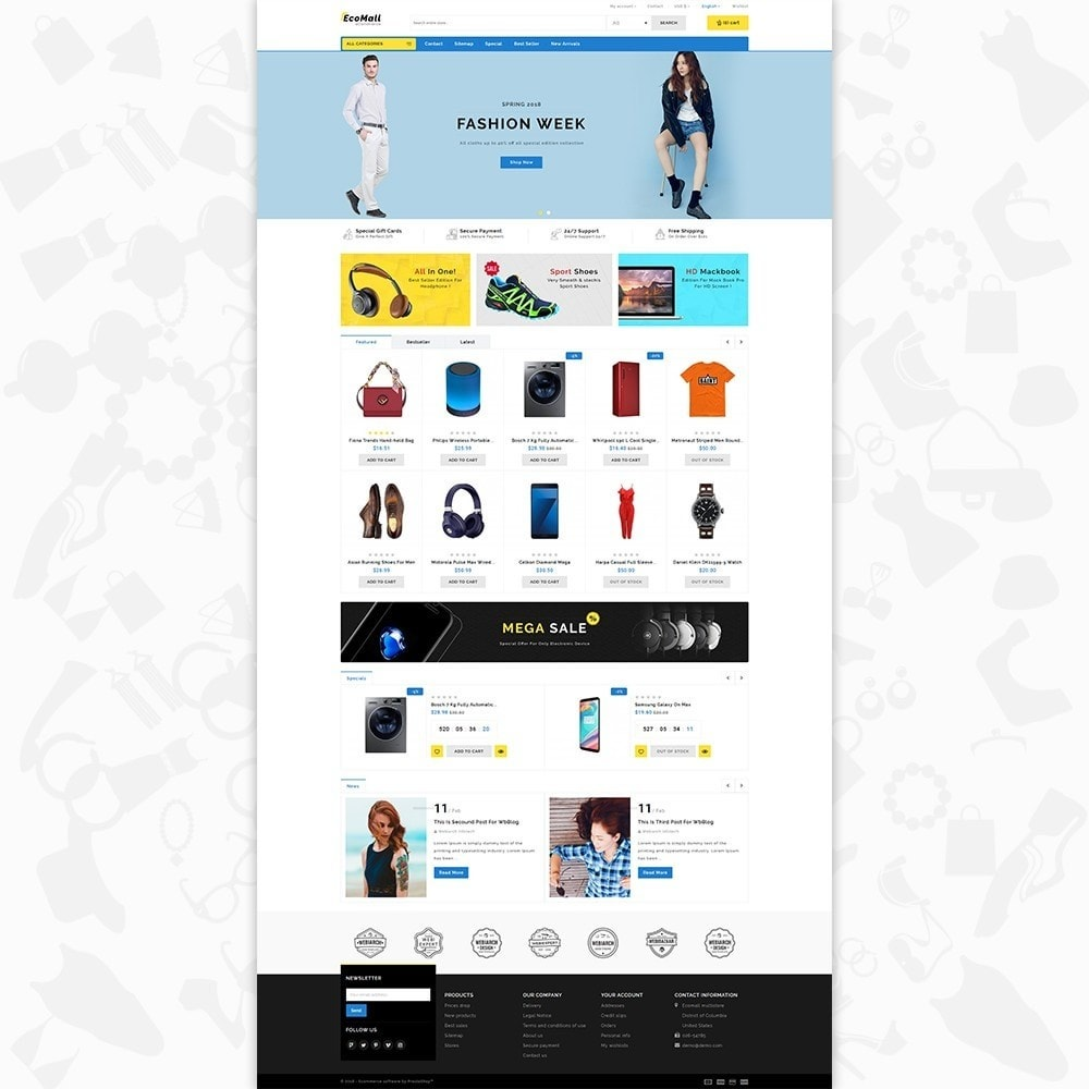 theme - Electronique & High Tech - EcoMall - The Mega Ecommerce Store - 2