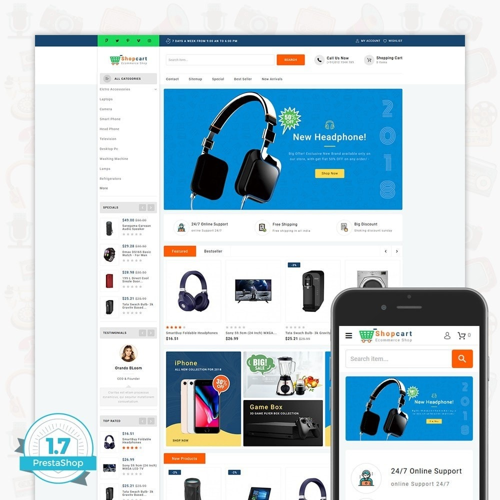 theme - Elettronica & High Tech - Shopcart  - The Multistore - 1