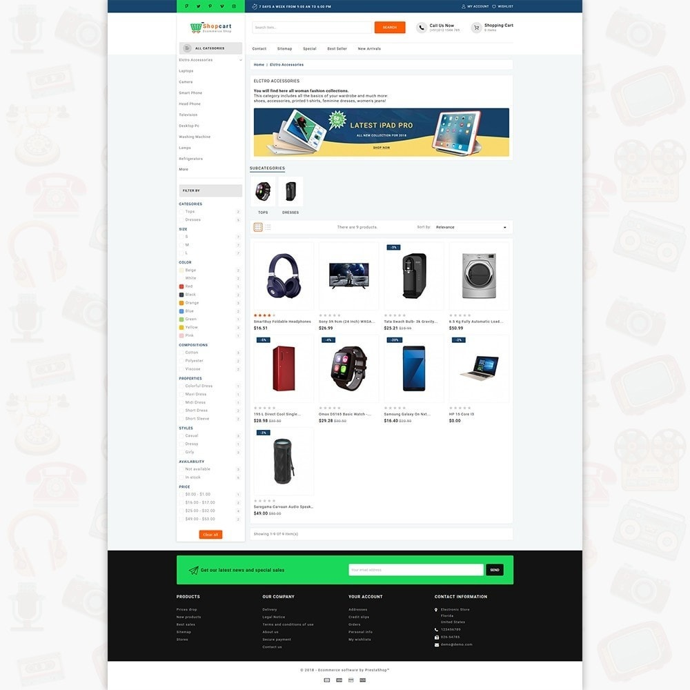 theme - Elettronica & High Tech - Shopcart  - The Multistore - 3
