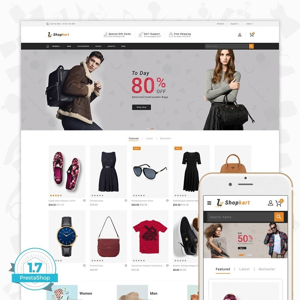 theme - Elektronika & High Tech - ShopKart - The Fashion Store - 1