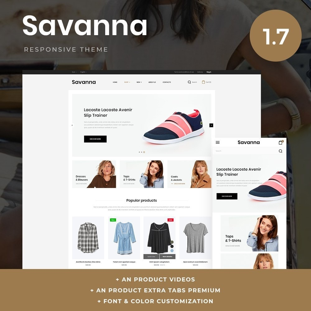theme - Mode & Chaussures - Savanna Fashion Store - 1