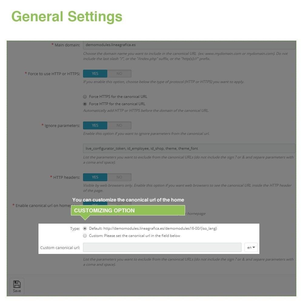 module - Управления адресами URL и перенаправлением - Canonical SEO URLs + Google Hreflang Pro - 7