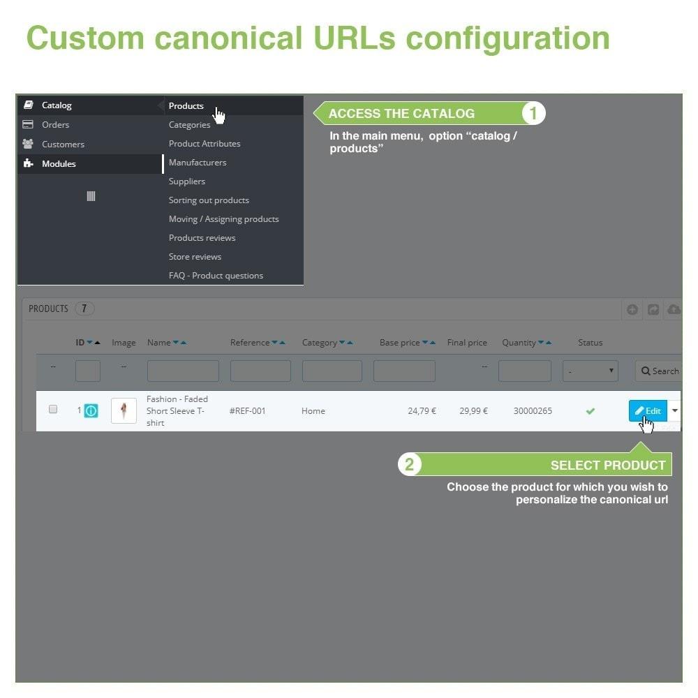 module - Управления адресами URL и перенаправлением - Canonical SEO URLs + Google Hreflang Pro - 10