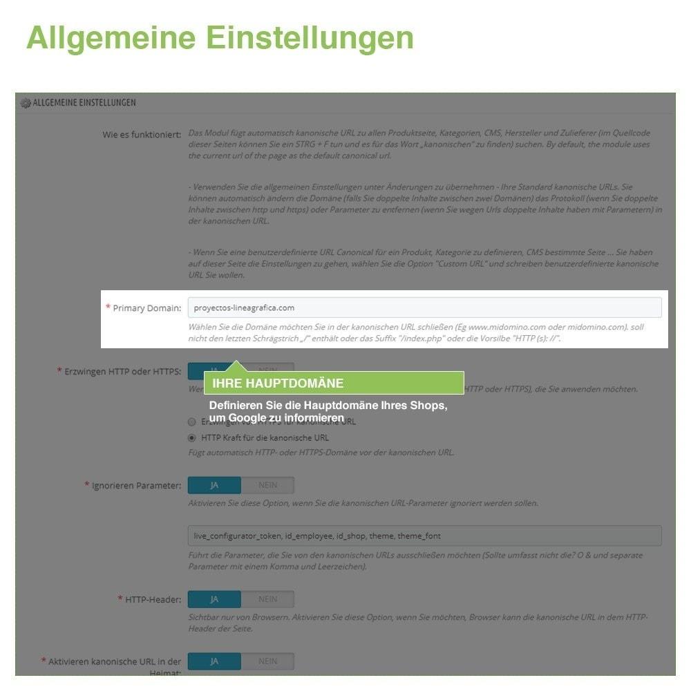 module - URL & Redirects - Kanonische URLs, um doppelte Inhalte zu vermeiden - SEO - 2