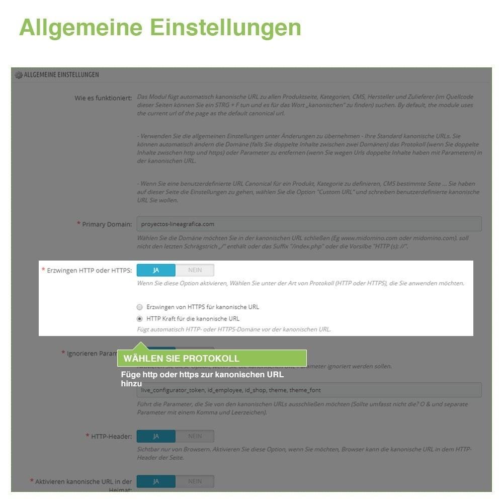 module - URL & Redirects - Kanonische URLs, um doppelte Inhalte zu vermeiden - SEO - 3