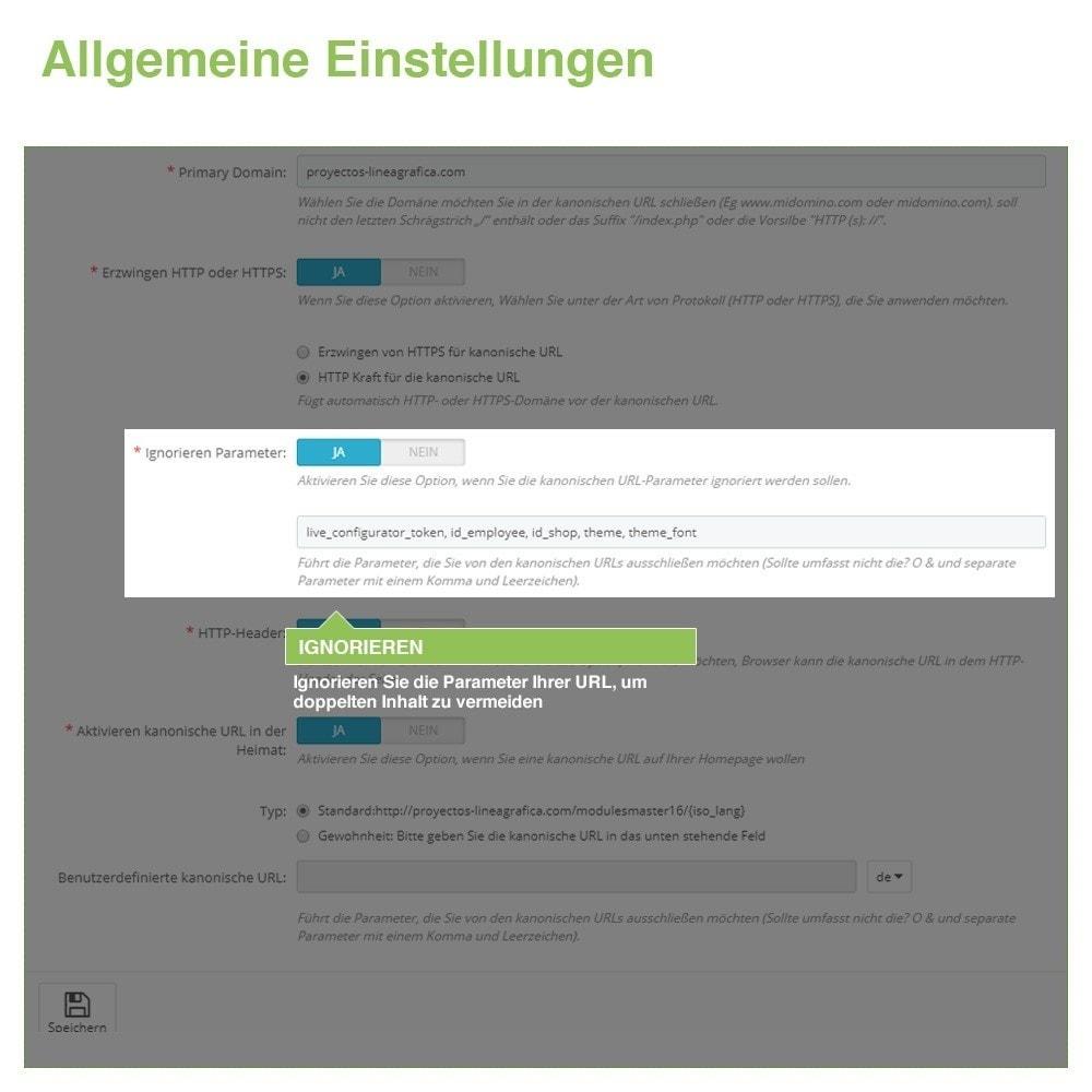 module - URL & Redirects - Kanonische URLs, um doppelte Inhalte zu vermeiden - SEO - 4