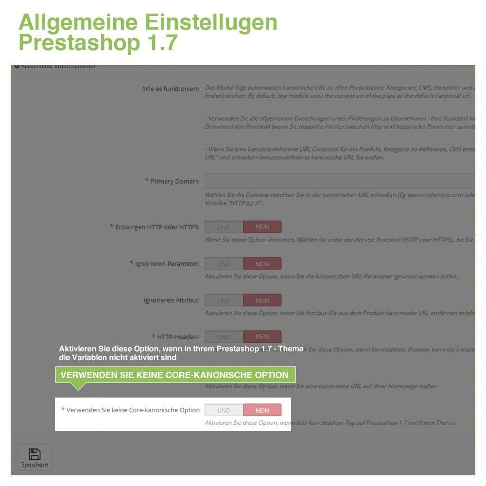 module - URL & Redirects - Kanonische URLs, um doppelte Inhalte zu vermeiden - SEO - 9