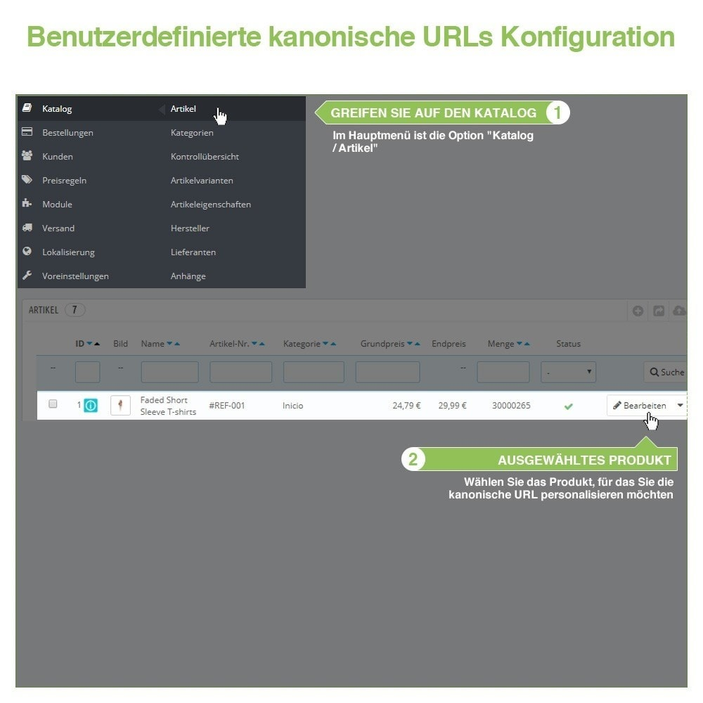 module - URL & Redirects - Kanonische URLs, um doppelte Inhalte zu vermeiden - SEO - 10