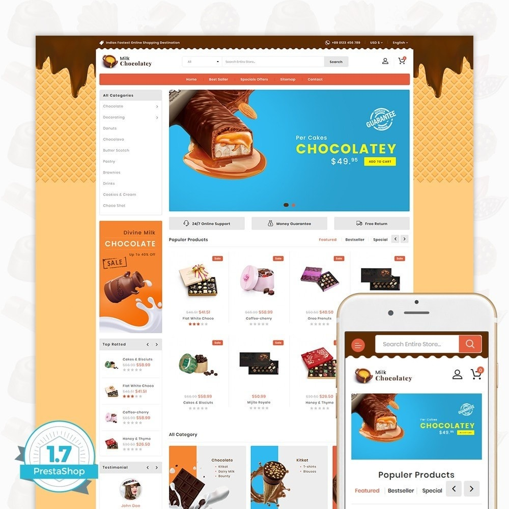 theme - Продовольствие и рестораны - Milk Chocolaty - 1
