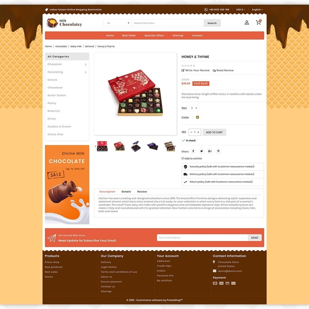 theme - Продовольствие и рестораны - Milk Chocolaty - 5