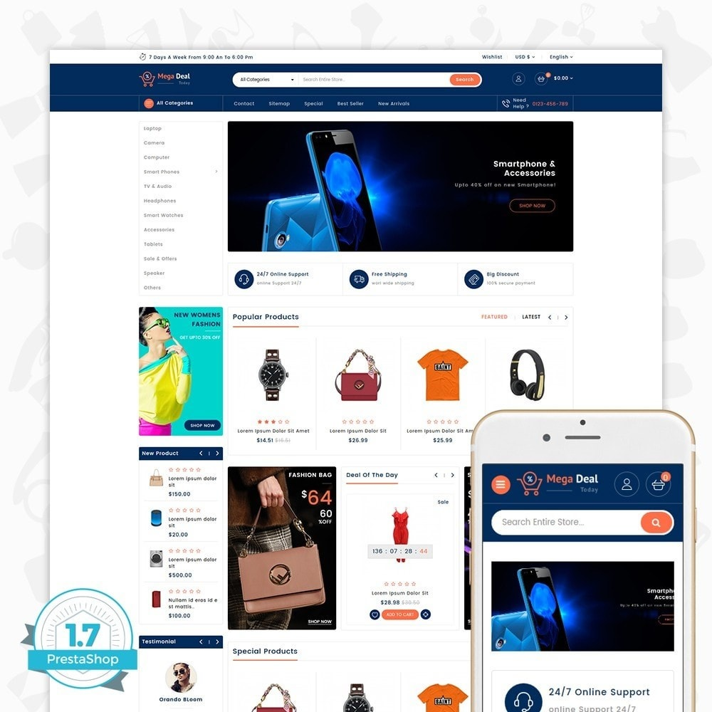theme - Elektronika & High Tech - MegaDeal - Ecommerce Shop - 1