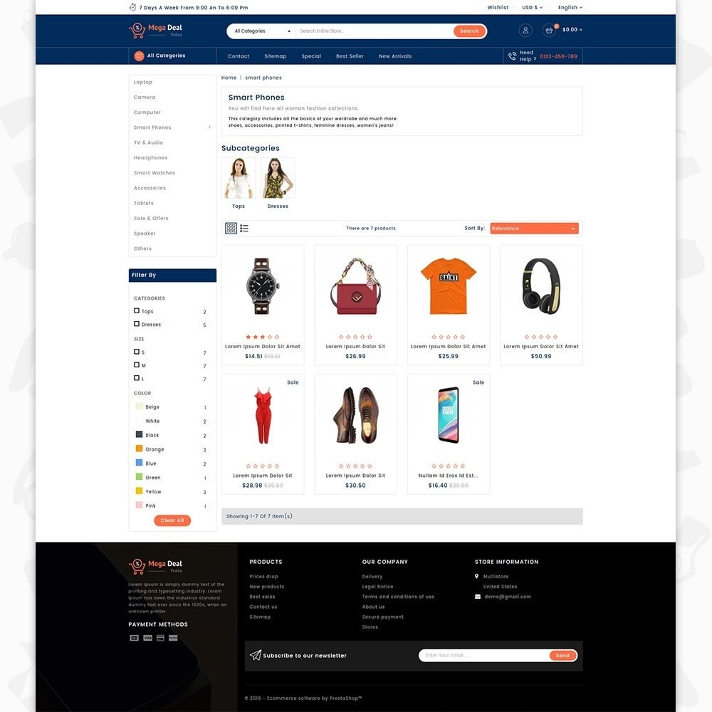 theme - Elektronika & High Tech - MegaDeal - Ecommerce Shop - 3