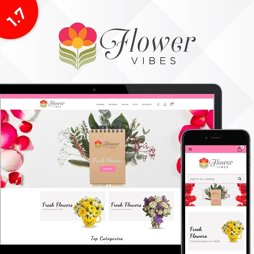 theme - Gifts, Flowers & Celebrations - Flower Vibes Store - 1