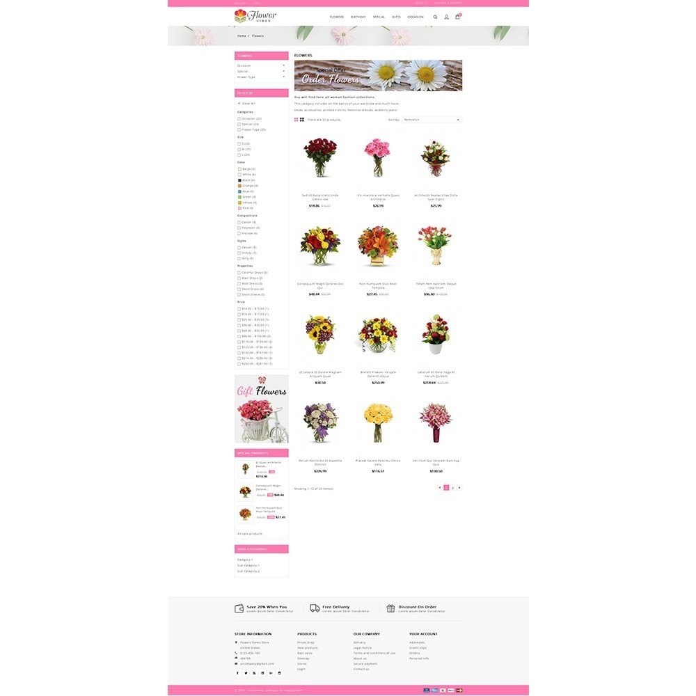 theme - Gifts, Flowers & Celebrations - Flower Vibes Store - 3