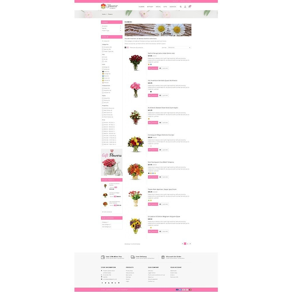 theme - Gifts, Flowers & Celebrations - Flower Vibes Store - 4