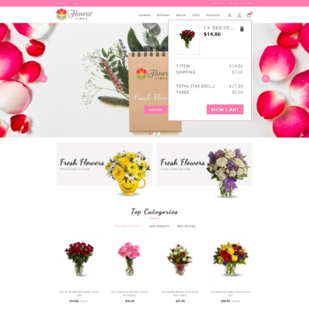 theme - Gifts, Flowers & Celebrations - Flower Vibes Store - 8