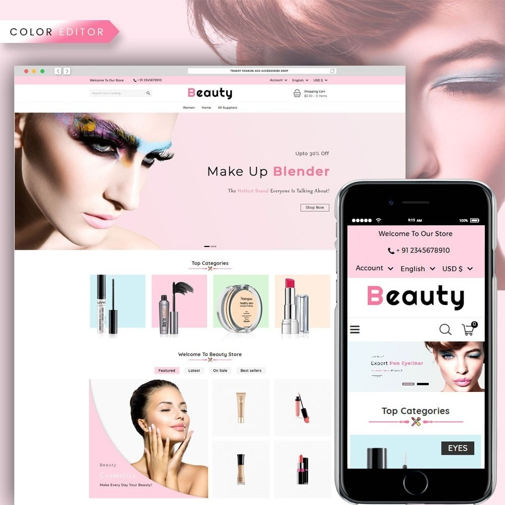 theme - Health & Beauty - Beauty Cosmetic Shop - 1