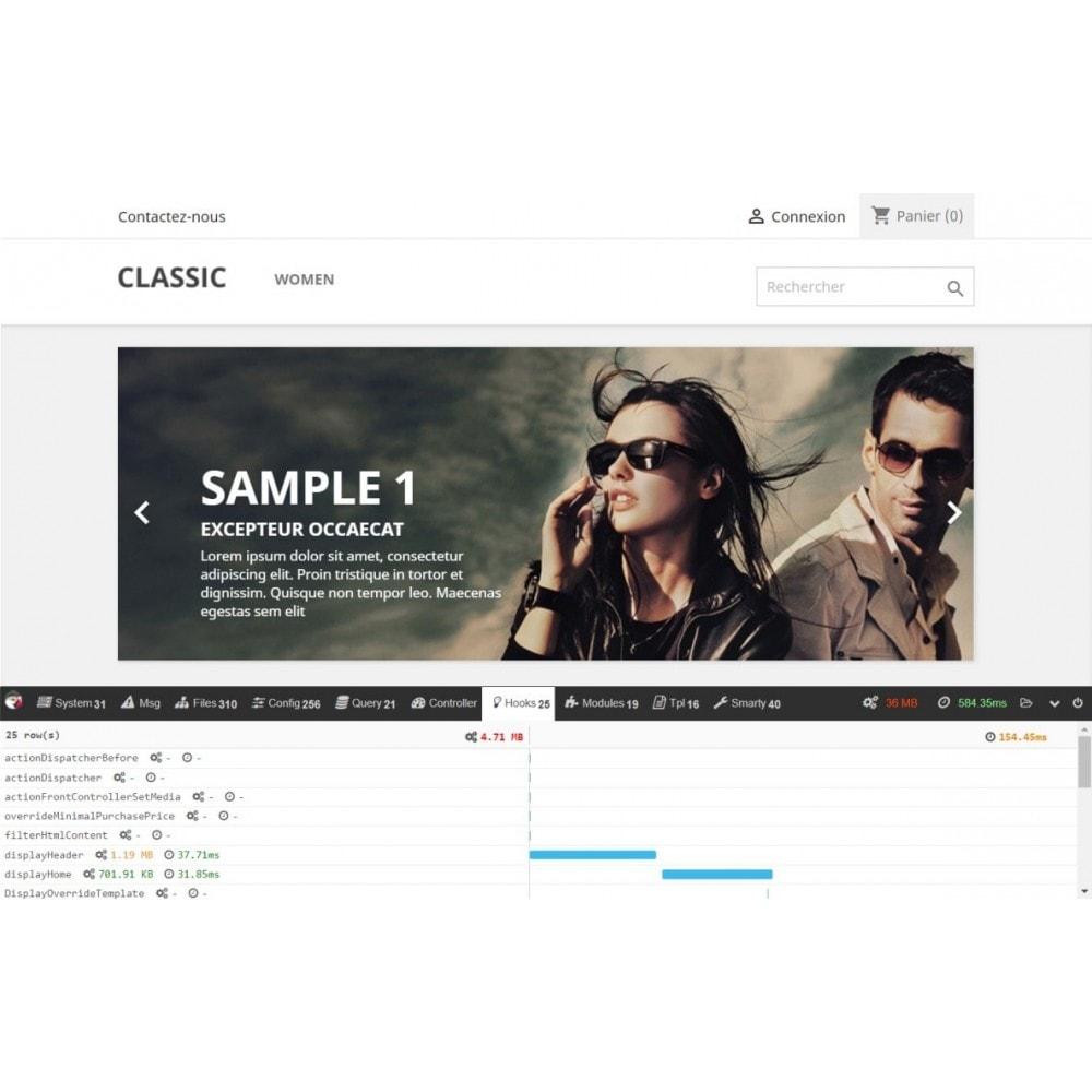 module - Website Performance - PrestaShop debug toolbar - 1