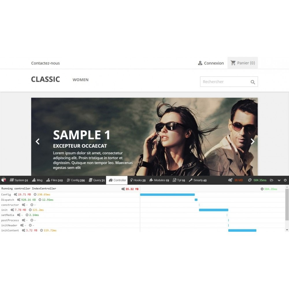 module - Website Performance - PrestaShop debug toolbar - 3