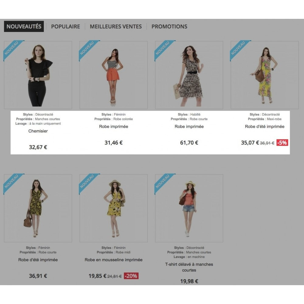 module - Additional Information & Product Tab - Product feature highlighting - 1